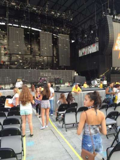 Jones Beach Theater, section: A, row: R, seat: 1