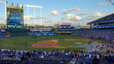 Kauffman Stadium, section: 221, row: LL, seat: 13