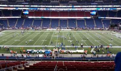 Gillette Stadium, section: CL32, row: 13, seat: 20