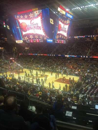 Quicken Loans Arena, section: 128, row: 28, seat: 9