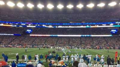 Gillette Stadium section 131