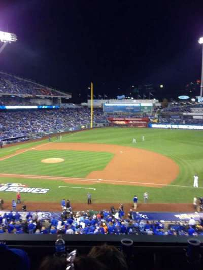 Kauffman Stadium, section: 318, row: C, seat: 5