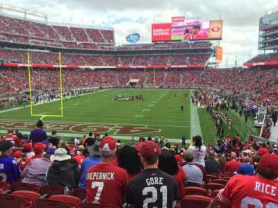 Levi's Stadium, section: 101, row: 31, seat: 17