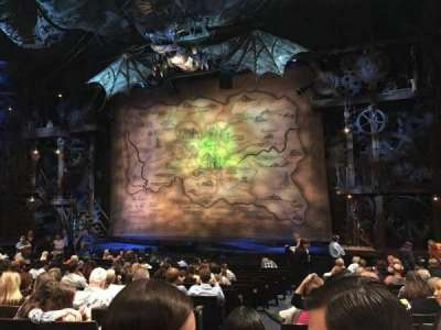 Gershwin Theatre, section: Orchestra R, row: M, seat: 6