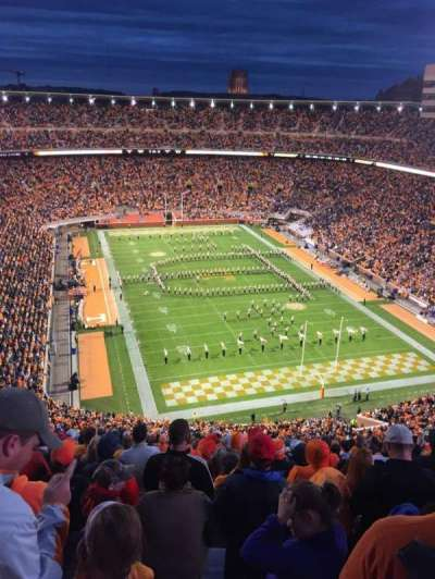 Neyland Stadium, section: NN, row: 33, seat: 17