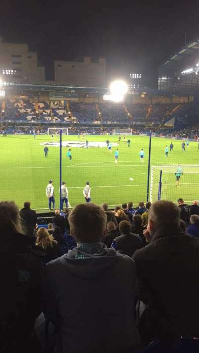 Stamford Bridge, section: Mathew Harding lower block 13, row: W, seat: 106