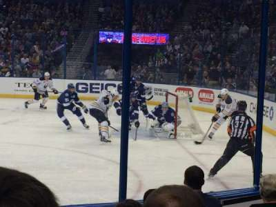 Amalie Arena, section: 128, row: F, seat: 13