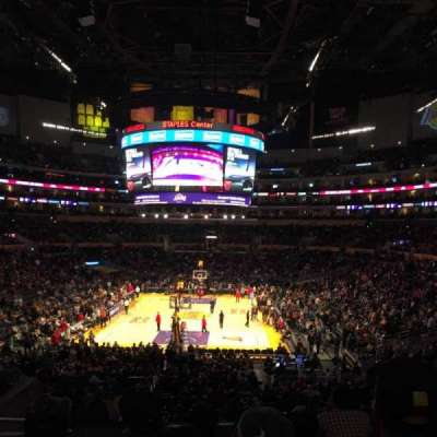 Staples Center, section: 216, row: 9, seat: 15