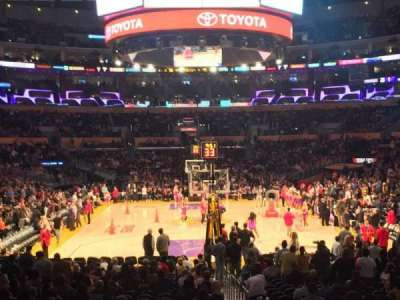 Staples Center, section: 106, row: 16, seat: 2