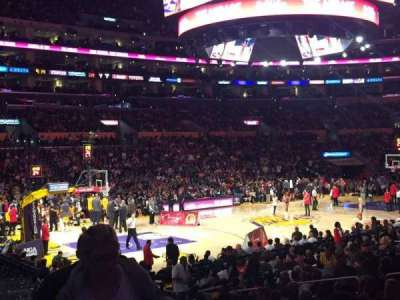 Staples Center, section: 114, row: 17, seat: 1