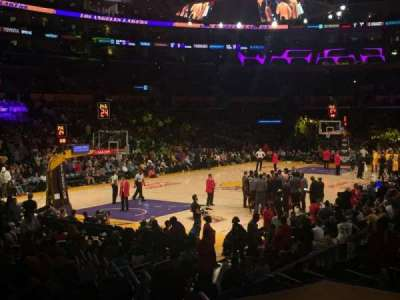 Staples Center, section: 105, row: 16, seat: 4