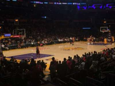 Staples Center section 104