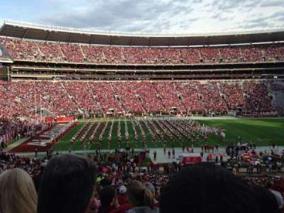 Bryant-Denny Stadium, section: J, row: 54, seat: 17