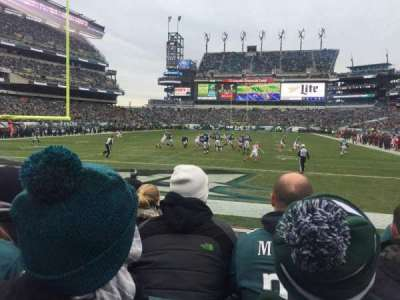 Lincoln Financial Field, section: 111, row: 4, seat: 11