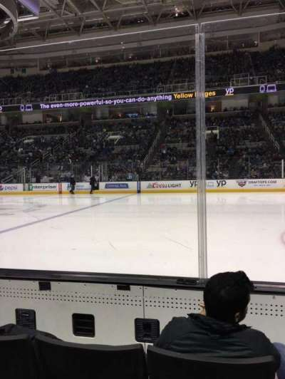 SAP Center at San Jose, section: 101, row: 3, seat: 12