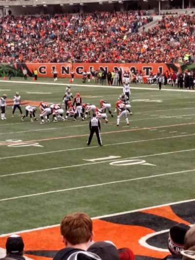 Paul Brown Stadium, section: 131, row: 12, seat: 3,4