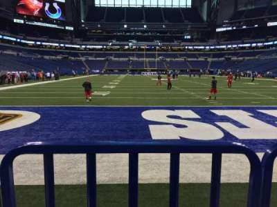Lucas Oil Stadium, section: 101, row: 3, seat: 16