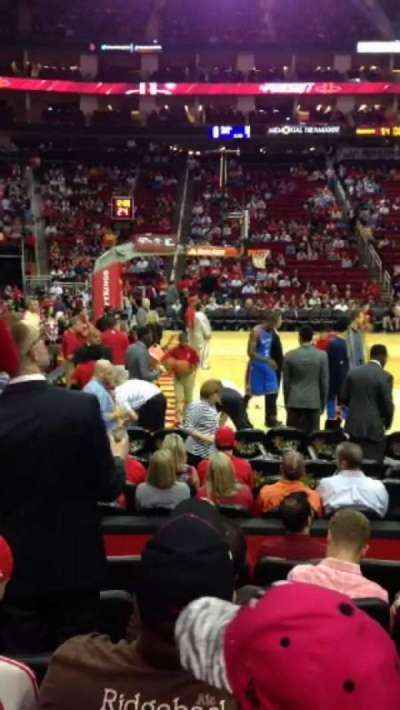 Toyota Center, section: 121, row: 6, seat: 13, 14