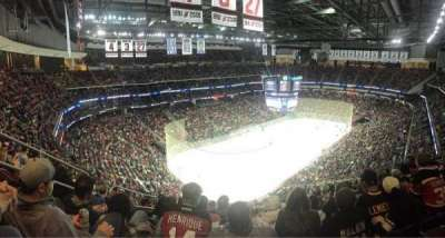 Prudential Center, section: 107, row: 15
