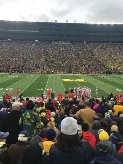 Michigan Stadium, section: 2, row: 21, seat: 23