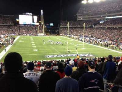 Gillette Stadium, section: 122, row: 33, seat: 6
