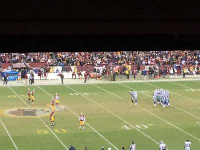 FedEx Field, section: 222, row: 18, seat: 21
