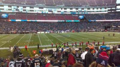 Gillette Stadium, section: 133, row: 21, seat: 7