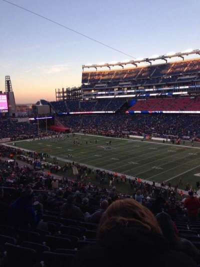 Gillette Stadium, section: 226, row: 25, seat: 9