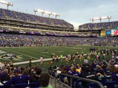 M&T Bank Stadium, section: 134, row: 16, seat: 1
