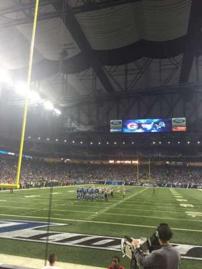 Ford Field, section: 138, row: 4, seat: 18