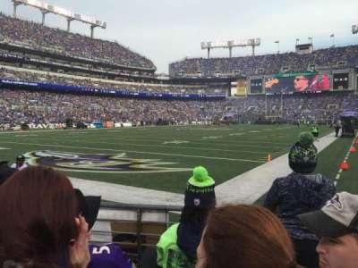 M&T Bank Stadium, section: 136, row: 3, seat: 5
