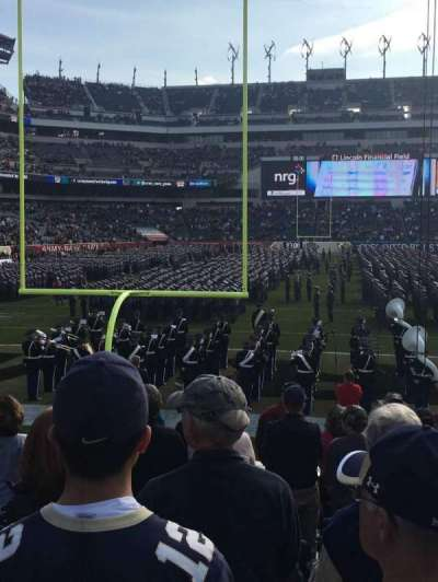 Lincoln Financial Field, section: 130, row: 10, seat: 23