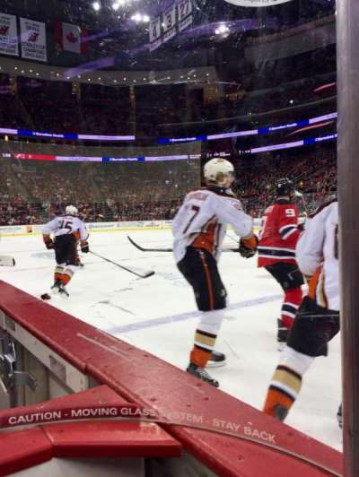 Prudential Center, section: 8, row: Glass , seat: 9