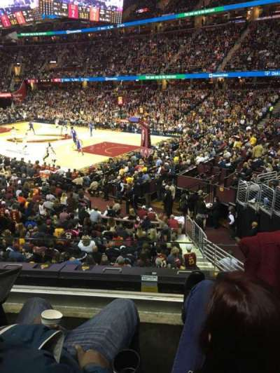 Quicken Loans Arena, section: 130, row: 16, seat: 4