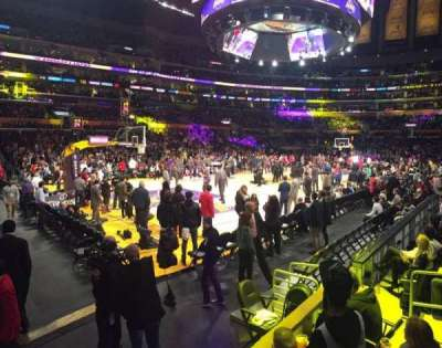Staples Center, section: 114, row: 7, seat: 1