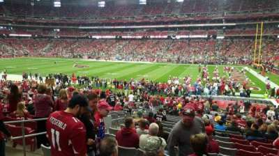 University of Phoenix Stadium, section: 104, row: 26, seat: 15