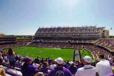 Amon G. Carter Stadium, section: 231, row: DD, seat: 15