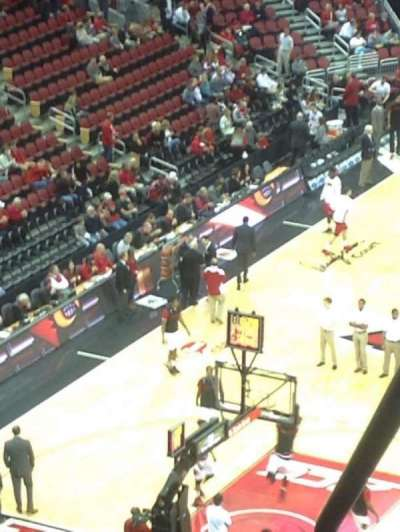 KFC Yum! Center, section: 313, row: UU, seat: 14