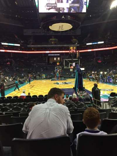 Spectrum Center, section: 110, row: G, seat: 4