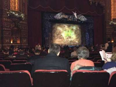 The Fabulous Fox Theater, section: OR02, row: W, seat: 15