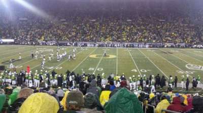 Autzen Stadium, section: 11, row: 27, seat: 1