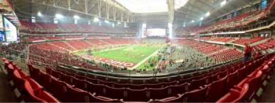 University of Phoenix Stadium, section: 202, row: 5, seat: 12