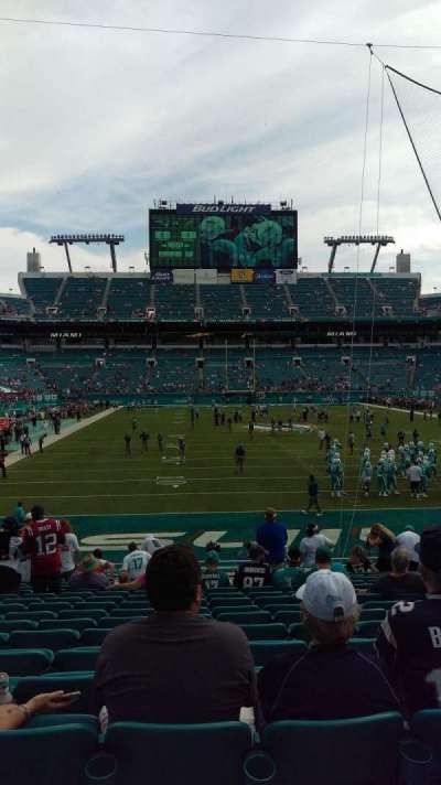 Hard Rock Stadium, section: 105, row: 17, seat: 14