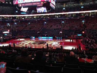 Air Canada Centre, section: 107, row: 21, seat: 14