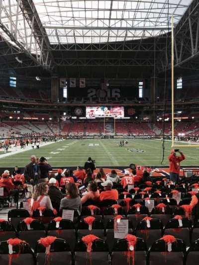 University of Phoenix Stadium, section: 142, row: 14, seat: 10