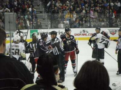 Nationwide Arena, section: 103, row: F, seat: 20