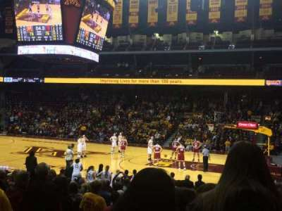 Williams Arena, section: 104, row: 17, seat: 11