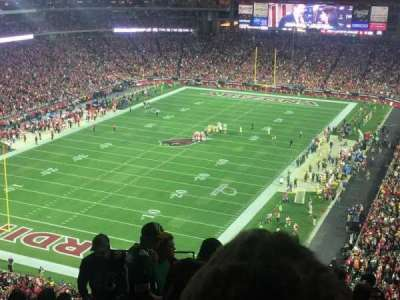 University of Phoenix Stadium, section: 454, row: 9, seat: 22