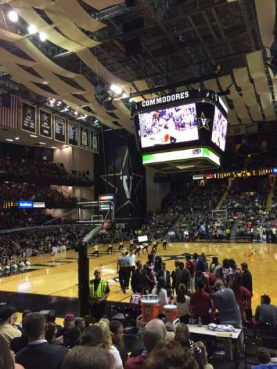 Memorial Gymnasium (Vanderbilt), section: 1F, row: 8