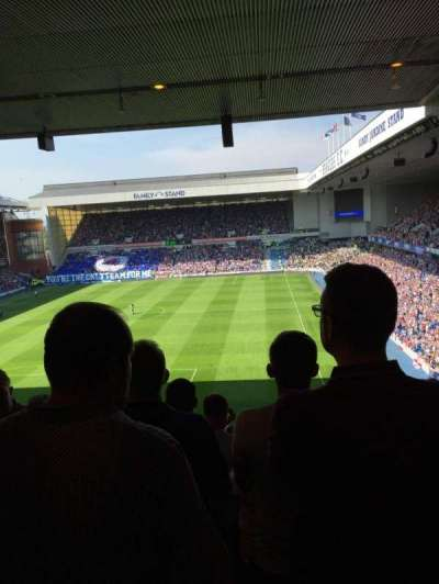 Ibrox Park, section: Copland rear, rangée: S, siège: 0021
